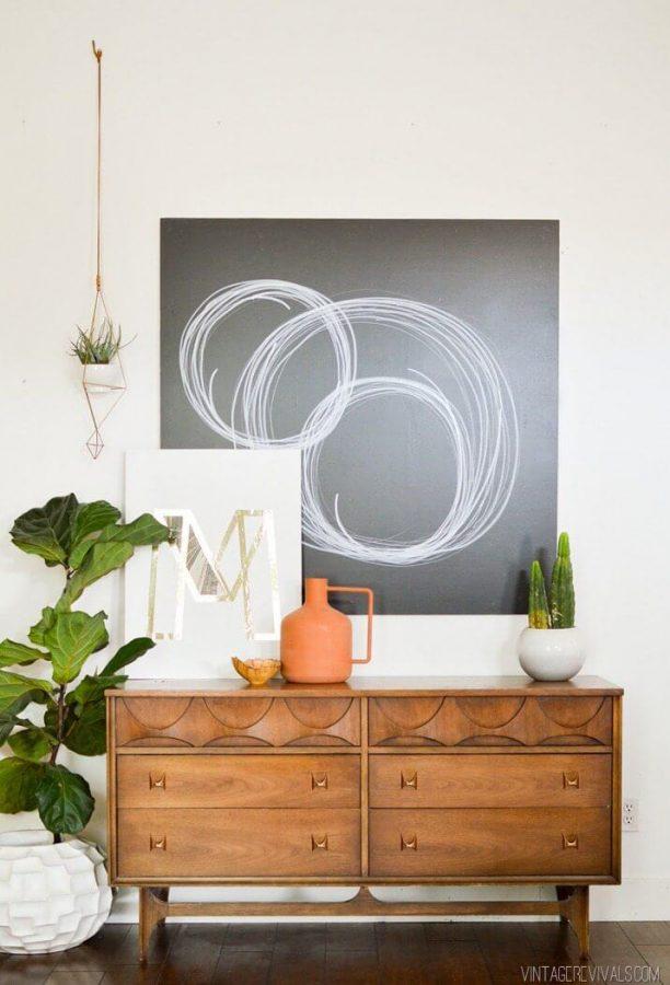 DIY wall art - blackboard and chalk