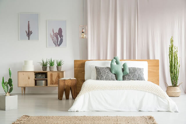 Modern and Minimalist Affairs - Cactus Themed Bedroom