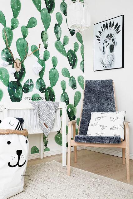 Watercolor Cactus Wallpaper