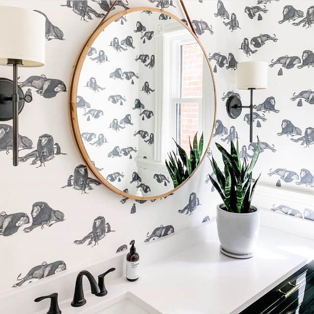 Animal Wallpapered Bathrooms