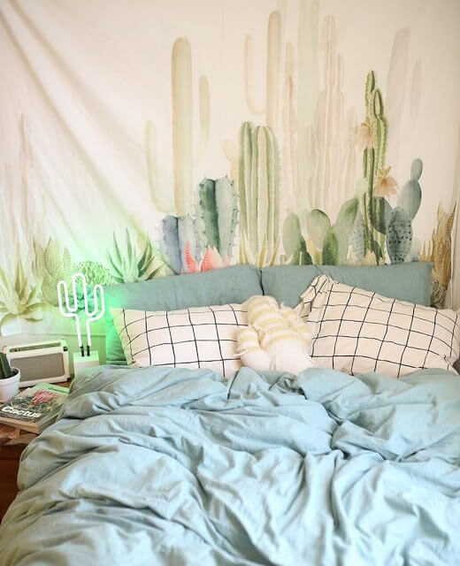 Cactus Lamp and Tapestry 2