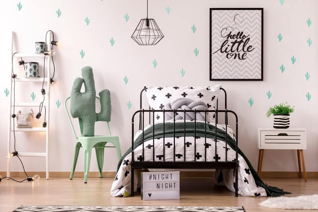 Lovely Cactus Themed Bedroom