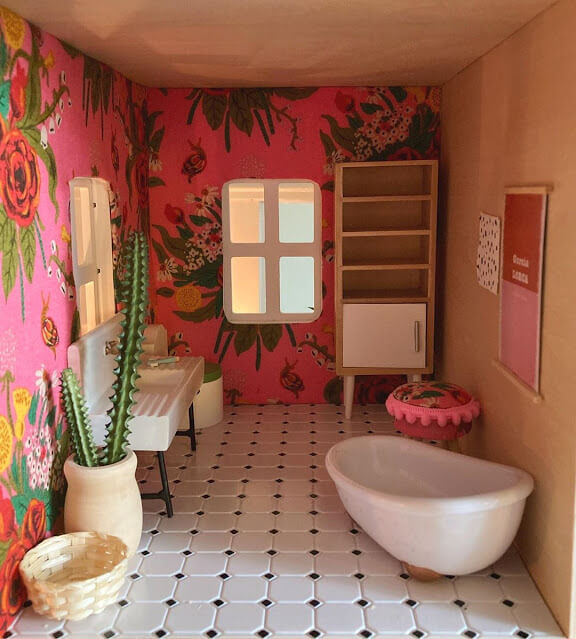 pink-floral-bathroom-wallpaper