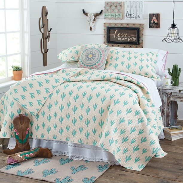 Cool Desert Vibe - Cactus Themed Bedroom