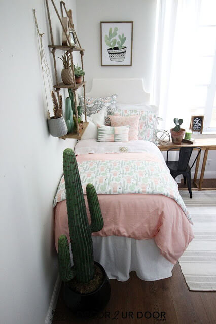 Cozy Small Space - Cactus Themed Bedroom