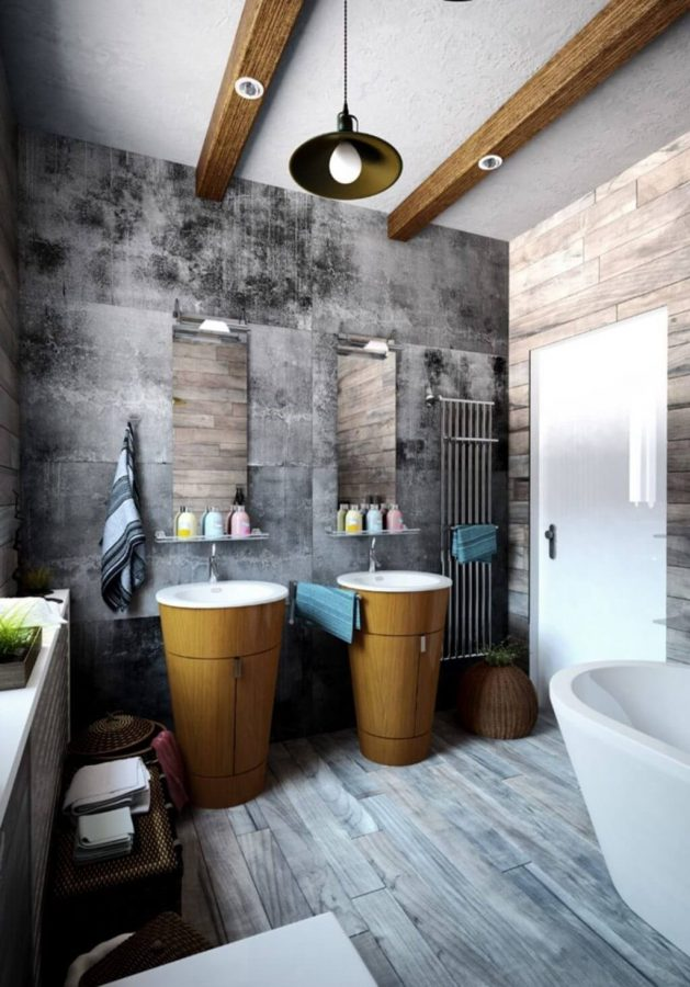 Exceptional Vanity for Industrial Bathroom