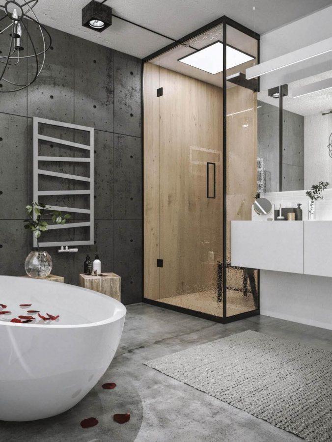Warm Shower Box - Industrial Bathroom