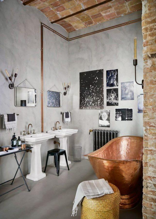 Copper Bathtub - Industrial Bathroom