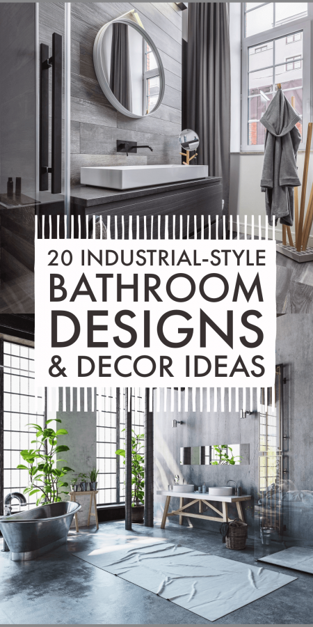 Industrial style bathroom designs and decor ideas