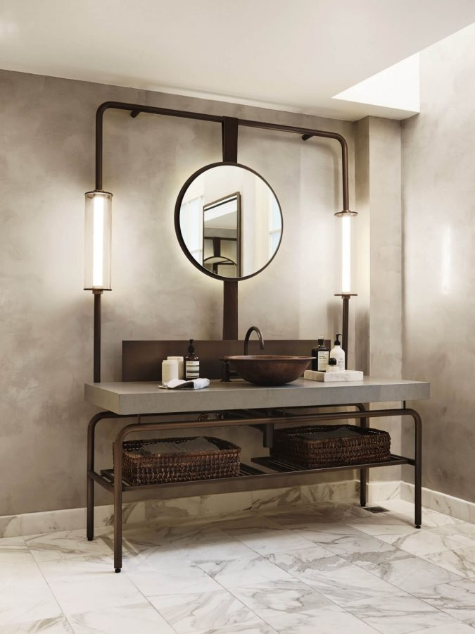 Sophisticated Vanity with Industrial Affairs