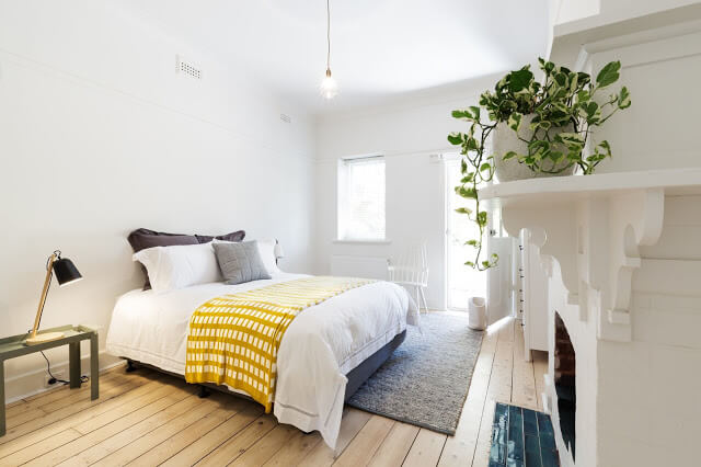 Give A Pop-Up Color & Mini Potted Plants - Bedroom Decor Ideas