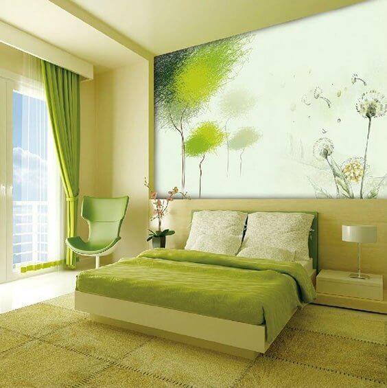Natural Green - Dandelion - Green Bedroom