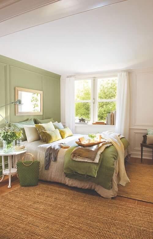 Brown-Carpeting-age Green-Bedroom