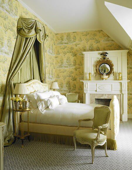 Ancient Theme Green Bedroom