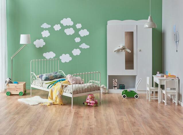Cutie Green Bedroom for Kids