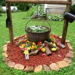 Antique Campfire Flower Bed Ideas