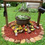 Antique Campfire Flower Bed Ideas