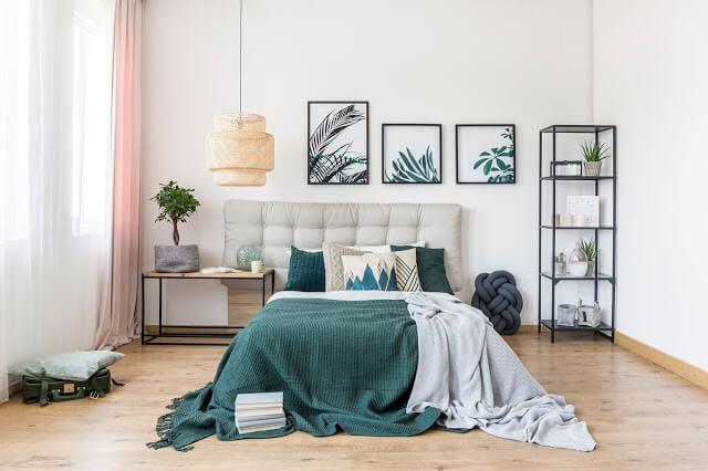 Modern Comfort Green Bedroom