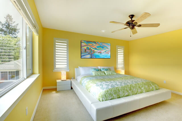 Yellow and Green Bedroom Color Combinations
