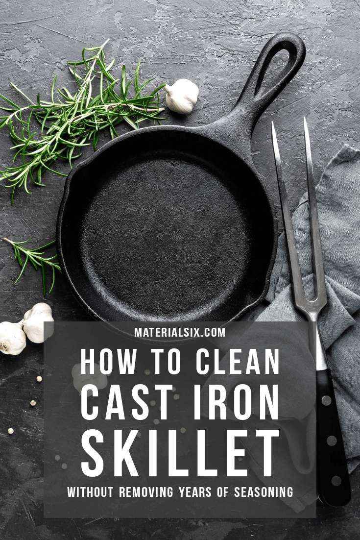 how to clean cast iron skill