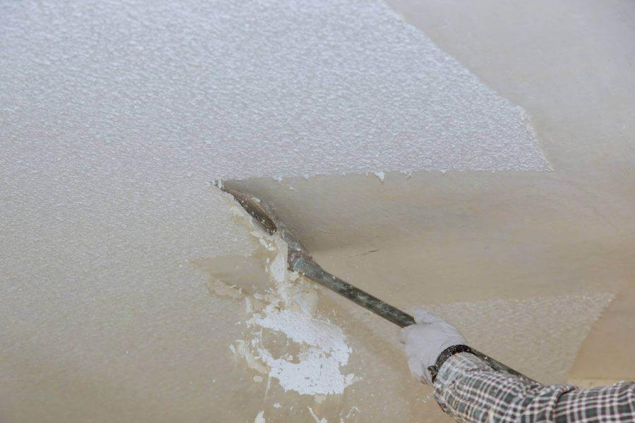 scrape ceiling