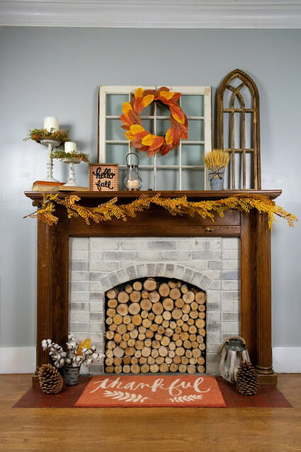 Mantel decor ideas with farmhouse style