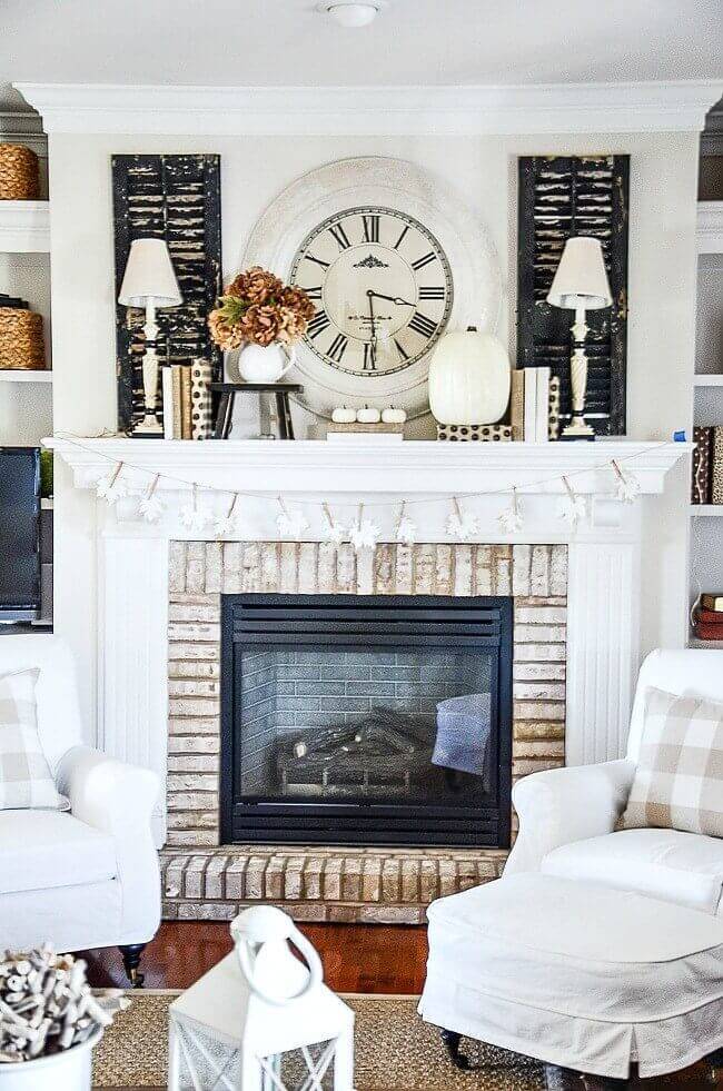 Black and White Farmhouse Mantel Decor Ideas
