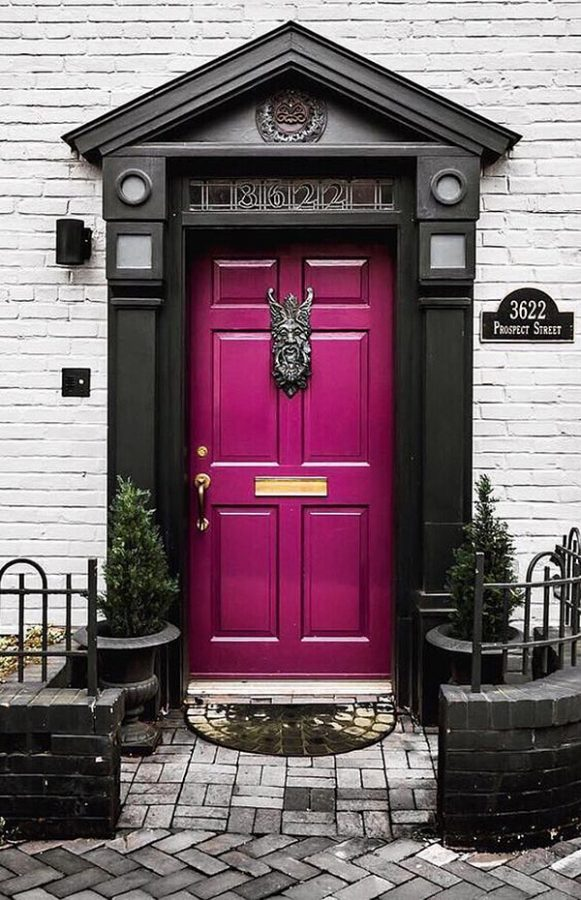 Magenta Front Door Color Ideas