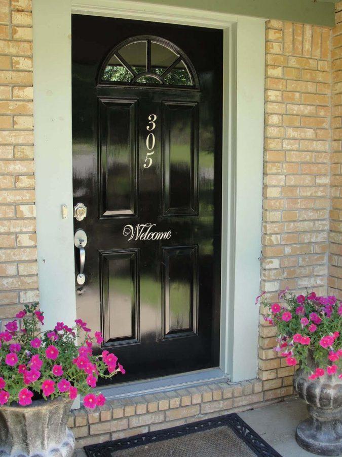 The Black Door - front door color ideas