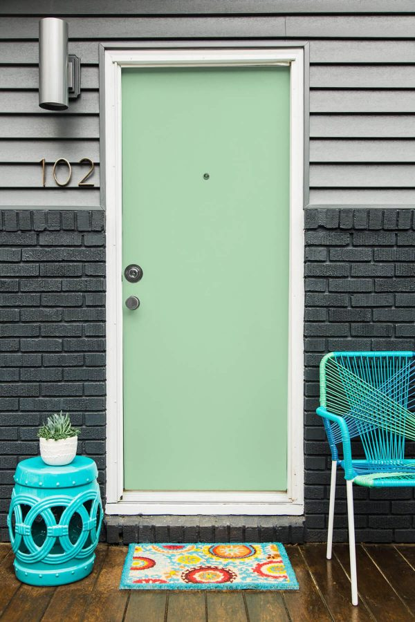 Stay Calm with Pastels - front door color ideas