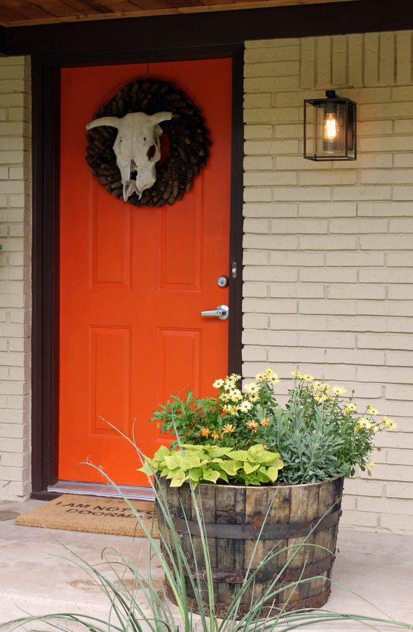 Orange is The New Trend - front door color ideas