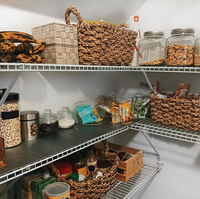 Wire Shelves for Corner Pantry Organization Ideas