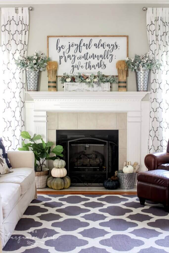 farmhouse mantel decor ideas When Autumn Comes