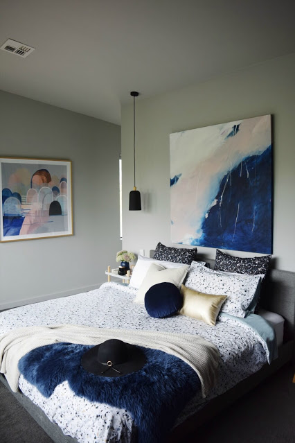 Paintings and Patterned Bedding