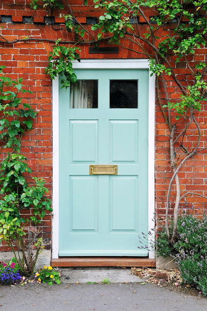 Turquoise Front Color Door Ideas