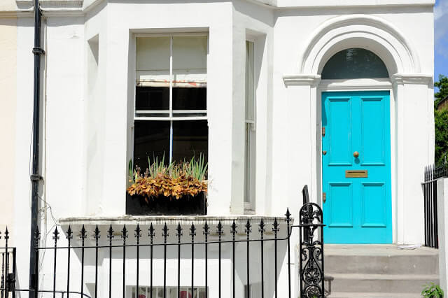 Feel the Beach with Aqua - front door color ideas