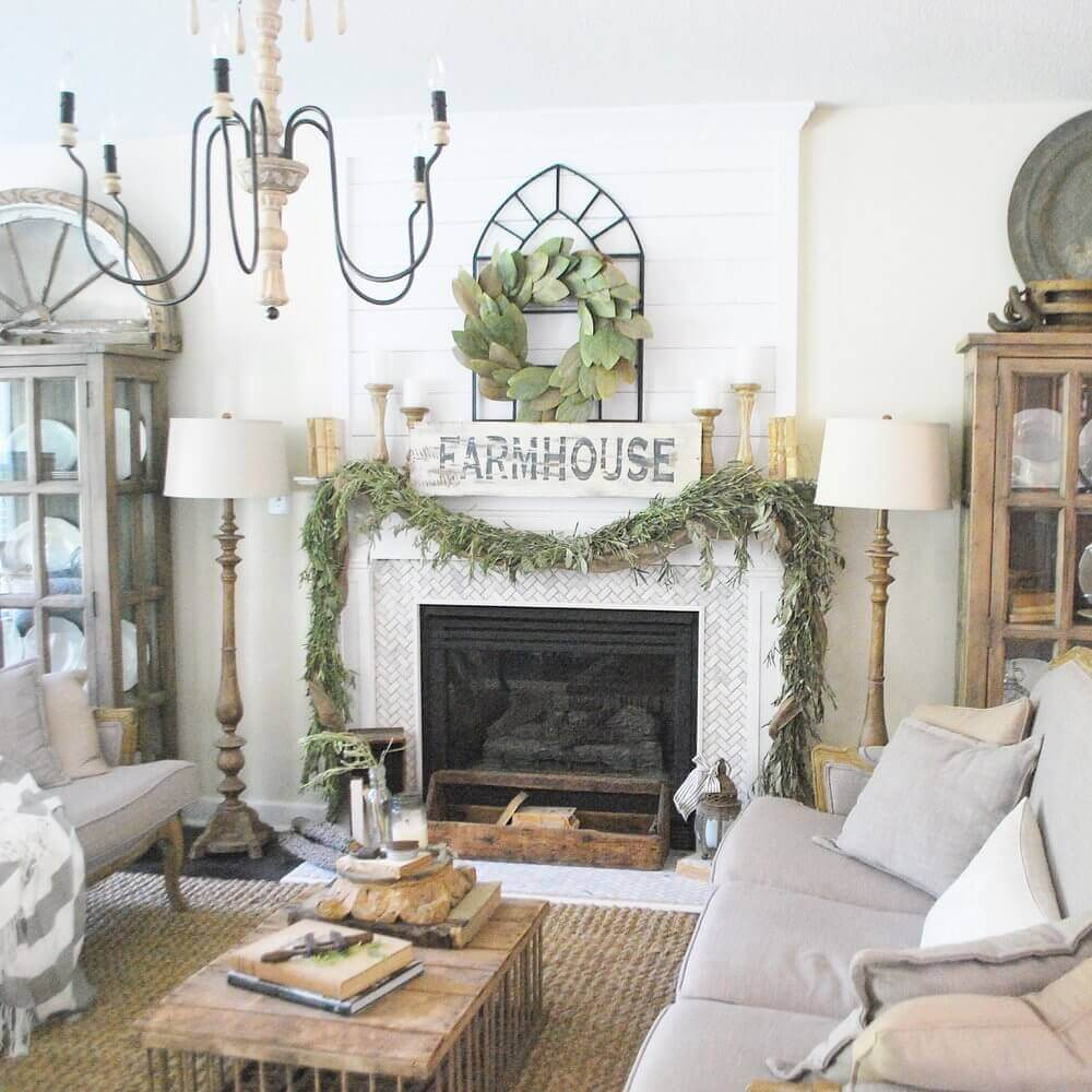 Modern Farmhouse Mantel Decor Ideas