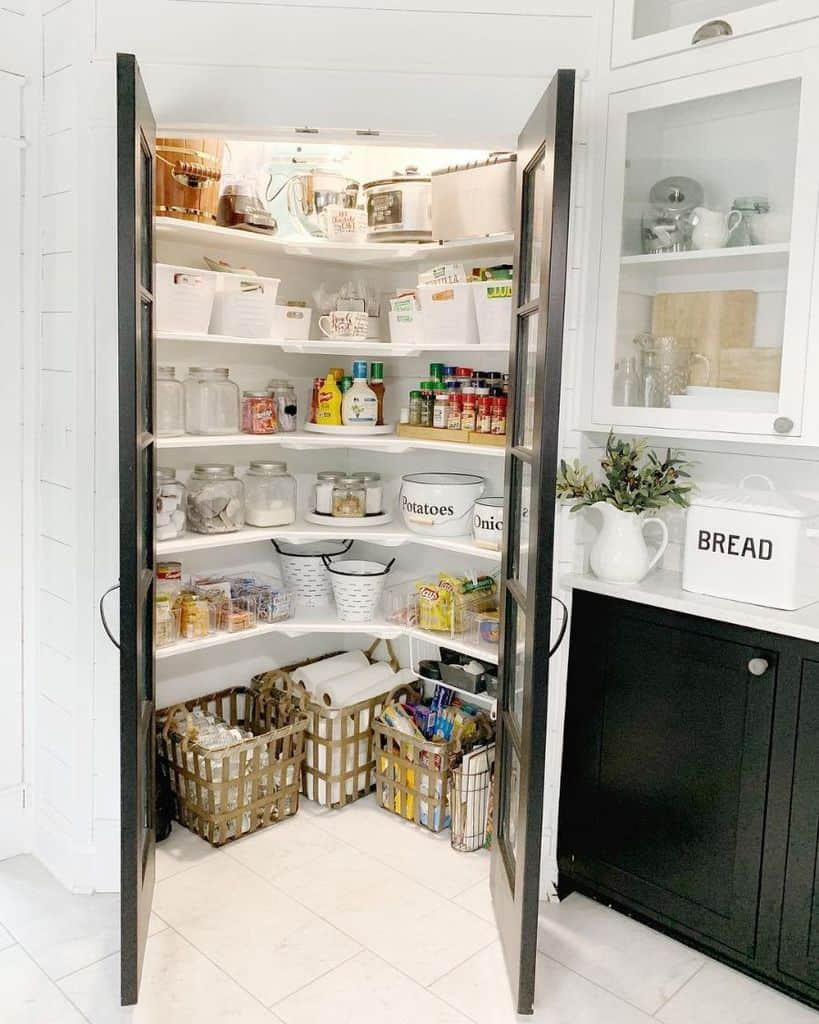 The Hidden Pantry - corner kitchen cabinet ideas