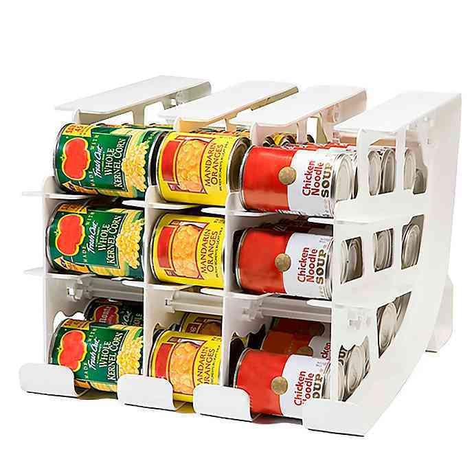Can holder for kitchen cabinet organization