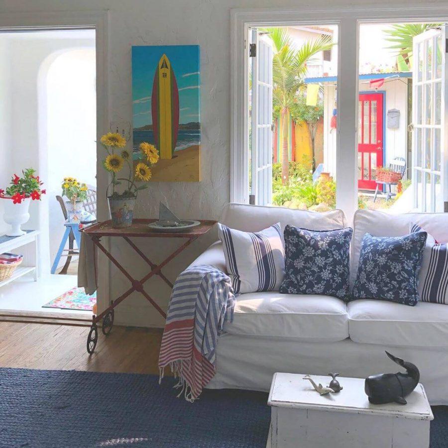 Beach-themed Living Room on a Budget