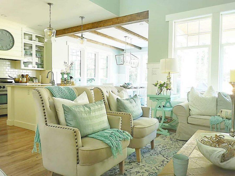 beach coastal living room decor idea
