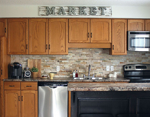 DIY kitchen cabinet makeover to look modern
