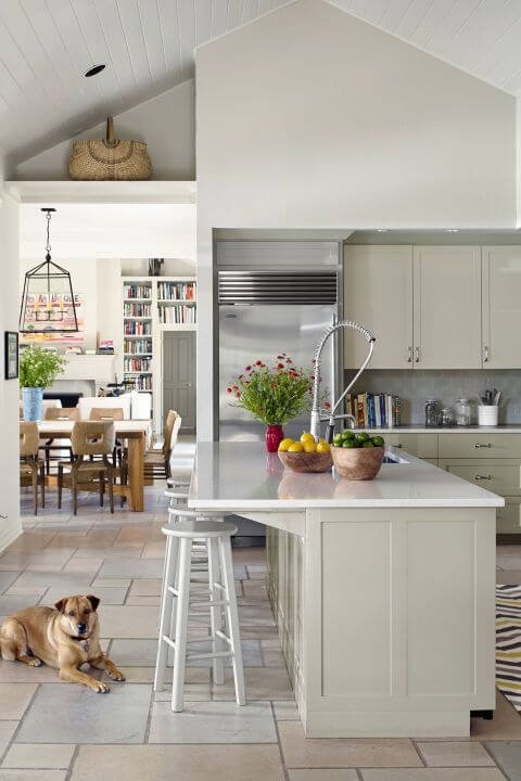 modern look white kitchen