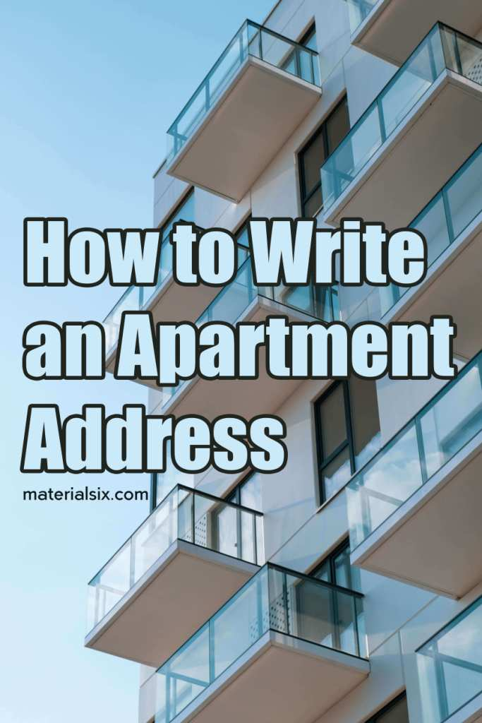 how to write apartment address