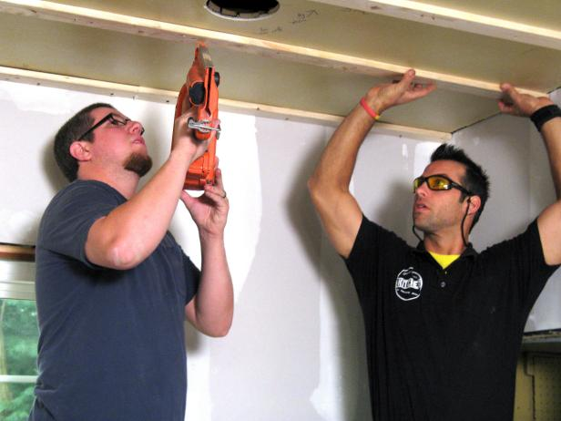 Furring Strips Attachment to the Ceiling - How to Install a Tongue-and-Groove Plank Ceiling