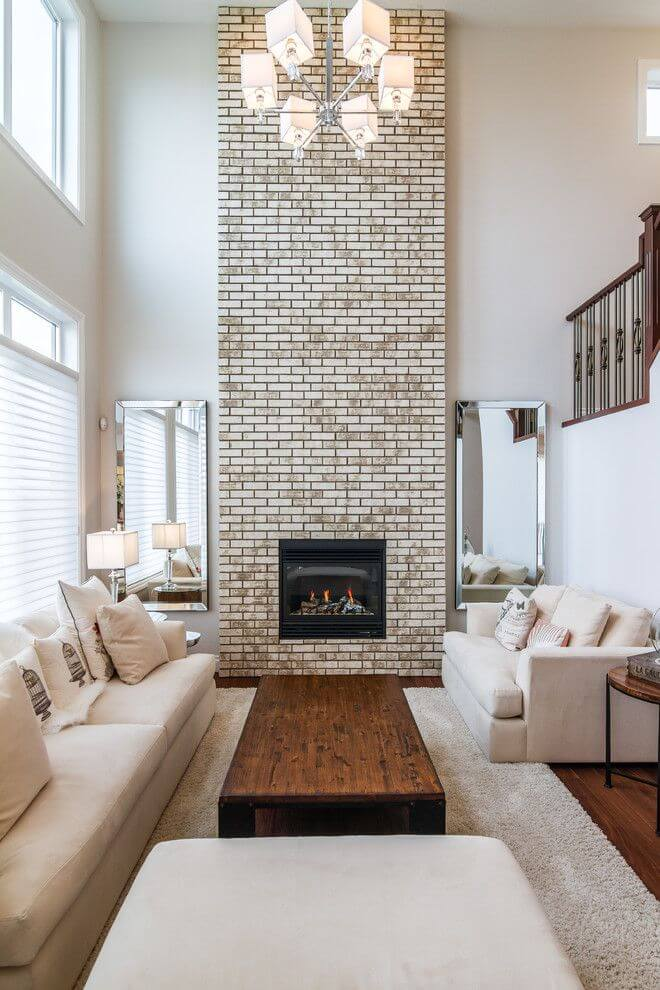 Soft Neutral Look Brick fireplace Painting