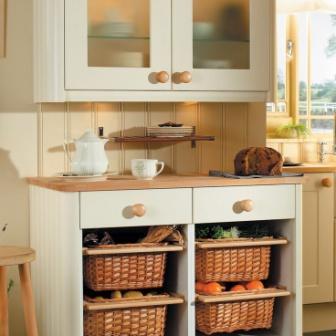 Kitchen Storage with baskets