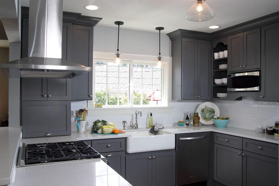 kitchen cabinet painting grey