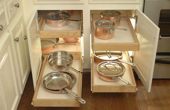Custom Designed pull out shelves and sliding shelves