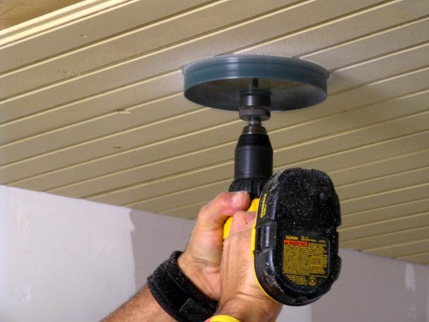 How to install tongue and groove ceiling - Creating Holes for Recessed Lighting